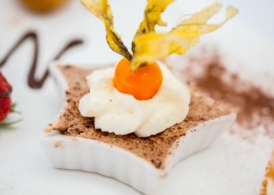 Dessert gourmand, assortiment de quatre minis desserts