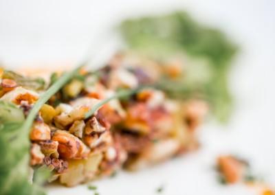 Salade de poulpe et légumes du moment